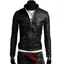 Jacke aus Leder Herren Mann Leder Jacke Kleidung Blouson Homme Cuir N16