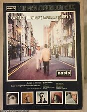 OASIS - (WHAT'S THE STORY) MORNING GLORY - full page Promo poster AD! for LP CD