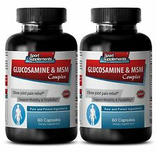 Pain-Relieving Benefits - Glucosamine & MSM Complex 3232mg - Super Collagen 2B