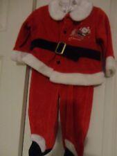 LITTLE WONDER KIDS RED VALVET CHRISTMAS SANTA NEW BORN BABY DRESS 3 TO 6 M