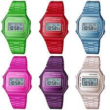 Hombre Mujer Clásico Digital Reloj Deportivo Moda Retro Acero Inoxidable Pulsera