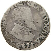 SPANISH NETHERLANDS  1/10 Philipsdaalder 1571 - Felipe II   1571 #s27 611