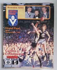 VFL Football Record 1981 GRAND FINAL CARLTON BLUES Souvenir MCG Program AFL [d