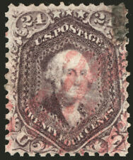 #70 24c Red Lilac1861 VF Used  with Magenta Cancel Gorgeous Color