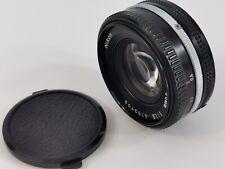 Nikon Nikkor 50mm f/1.8 Prime Lens Manual Focus Pancake Lens Vintage