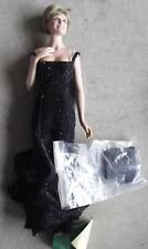 "RARE Franklin Mint Porcelain Princess Diana in Black Dress Prototype Doll 17"""