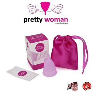 Menstrual Cup in Medical Grade Silicone - Pink - in 2 Sizes