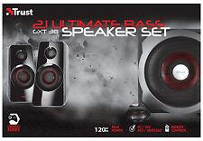 NEW TRUST 2.1 GXT38 120W ULTIMATE BASS SPEAKER SET 19024 PC WII SONY PS3 XBOX360