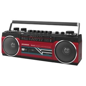 Sylvania Src232bt-red Bluetooth Retro Cassette Boombox With Fm Radio [red]