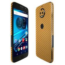 Skinomi TechSkin - Gold Carbon Fiber Skin & Screen Protector for Moto G5s Plus