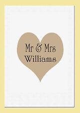 Onorevole & Mrs TEA ASCIUGAMANO PERSONALIZZATO CON I NOMI COPPIE Ideale Matrimonio Regalo