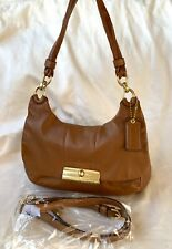 KRISTIN HIPPIE CONVERTIBLE BROWN LEATHER CROSSBODY BAG  16931  — COACH