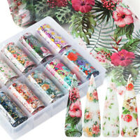 Flower Adhesive Nail Art Stickers Manicure Decor Holographic Decals Nail Foil EN