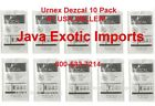 URNEX DEZCAL ESPRESSO COFFEE MAKER SCALE REMOVER CLEANER 10 Pack #1 USA DEALER!