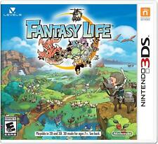 Fantasy Life [Nintendo 3DS, Life Simulation Action Adventure RPG] NEW