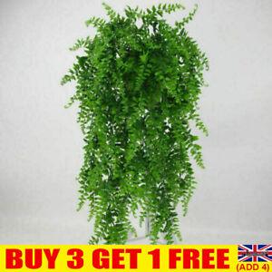 Artificial Hanging Plants Fake Fern Trailing Foliage Plastic Flower Leaf DecorYE
