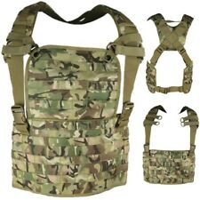 MOLLE CHEST RIG TACTICAL CARRIER BTP CAMO AIRSOFT ARMY MILITARY WEBBING VEST