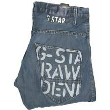 G-Star Arc Men Blue Tapered Loose Jeans W34 L32 (45606)