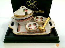 Reutter Black Rose Soup Serving Set 1:12 Porcelain Dolls House Miniature 1.638/8