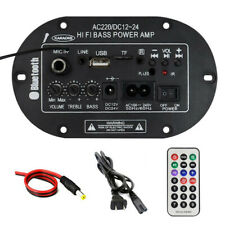 Hi-fi Bluetooth amplificador de potencia de entrada MIC Mini Bajo Audio Amplificador estéreo FM USB SD TF
