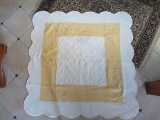 Couverture de jour plaid nappe 80x80 Couleur Taupe-Beige boutis Gesteppt Maison de campagne shabby
