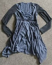 Lagenlook Hippy Goth Gris Top Robe tombante Angels Never Die L 12