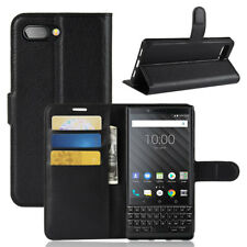 For BlackBerry Key2 Classic Flip Leather Wallet Stand Case Shockproof Full Cover