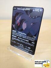 Shadow Lugia Black METAL CUSTOM Pokemon Style Card With DISPLAY STAND