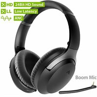 24 Bit Hi-Fi Bluetooth 5.0 Active Noise Cancelling Wireless Over Ear Headphones