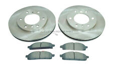 MITSUBISHI L200 2.5 4x4 Di-D DT BARBARIAN + WARRIOR FRONT 2 BRAKE DISCS AND PADS