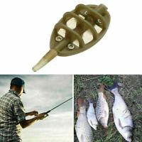 4PCS 30g INLINE METHOD FEEDERS FLAT SWIM FEEDERS NGT CARP FISHING TACKLE BA Y9N2
