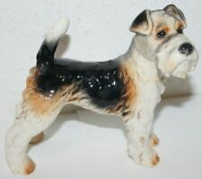 Vintage Goebel Porcelain Airedale Terrier Dog Figurine #30503 Germany Retired