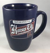 Coffee Mug Navy Blue Tall Heartland Apparel USA Kansas City Red White Patriotic