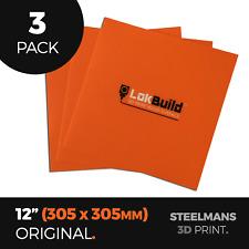 """PACK OF 3 x LokBuild : 3D Print Build Surface - 12"""" (305 x 305mm)"""