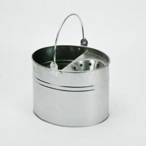 NEW HEAVY DUTY METAL MOP BUCKET GALVANISED STRONG 15 LITRE CAPACITY FOR CLEANING