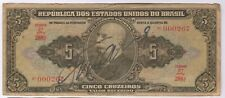 More details for 1942-67 brazil 5 cruzeiros note signed with anonymous autograph   pennies2pounds