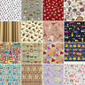 PRECUT Cotton Fabric 3/4 Yard 67.5x110cm Mixed Flower Dot Gingham Plaid Stripe 2
