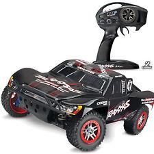 Traxxas #trx68086-4 Negro Slash 4x4 sin escobillas TSM Short Course RACE Camión