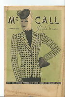 NN-077 - McCall Style News March 1939 Sewing Vintage