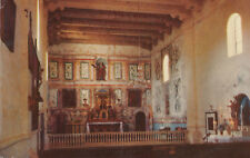 Chrome Postcard A016 Posted 1952 Mission Santa Ines Solvang California Security