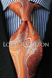 Lord R Colton Studio Tie - Moroccan Tangerine Tapestry Necktie - $95 Retail New