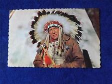 GREETINGS FROM TILLSONBURG POSTCARD ONTARIO NATIVE CANADIAN INDIAN CHIEF