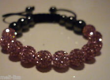 Shamballa Pink Czech Crystal Bracelet - Bangle