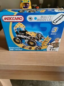 Brand New & Sealed Meccano 2009 - 3 Multi Models Set 110+ parts 2520 - 8+ Years
