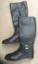 Ralph Lauren Boots, Uk Size 6, Black Leather Us Size 8B