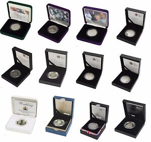 SILVER PROOF PIEDFORT FIVE POUND £5 COINS ROYAL MINT BOXED AND COA PICK A YEAR