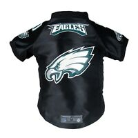 Philadelphia Eagles NFL LEP Dog Pet Premium Jersey, Black  XS-BIG Dog Size