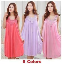 Round Neck Floral Laces Nightgown Sleepwear Nightdress Pajama Babydoll Dress