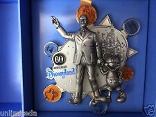 Disneyland 60th Anniversary Walt Disney & Mickey Mouse Super Jumbo Pin LE 500