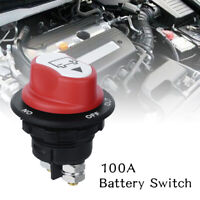 OKBY Current Switch Battery Disconnect Switch 100A High Current Car Power Cut Off Switch Battery Disconnect Power Isolator